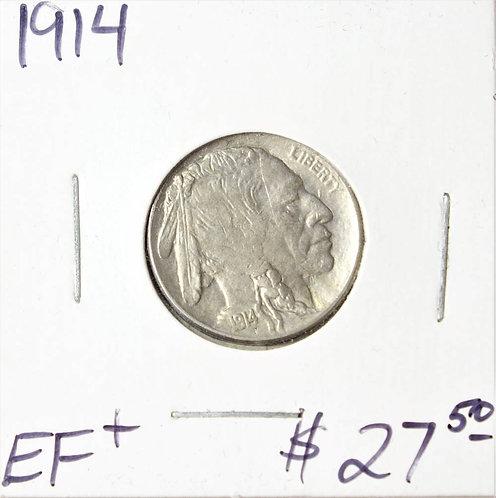 1914 Buffalo Nickel in EF+