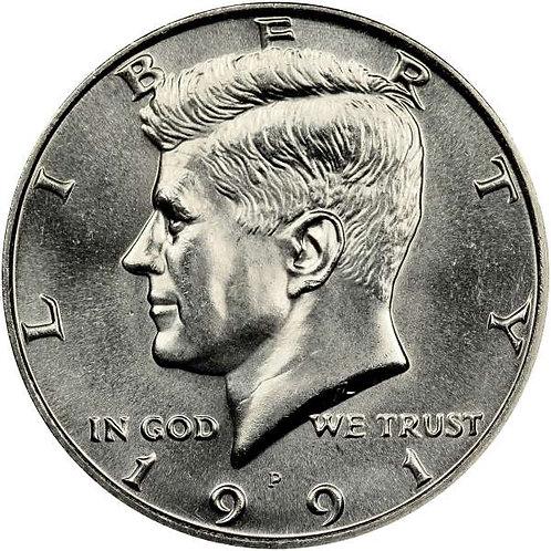 1991-P Kennedy Half Dollar in BU