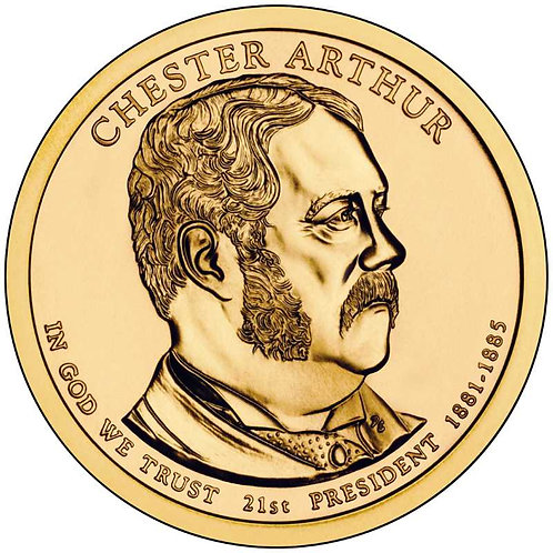 2012-P Chester Arthur Presidential Dollar in BU