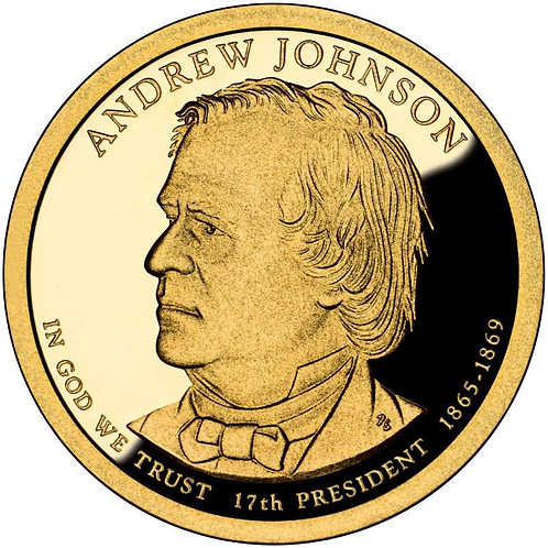 2011-S Andrew Johnson Presidential Dollar Proof