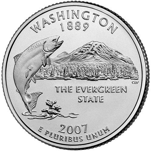 2007-D Washington Statehood Quarter in BU