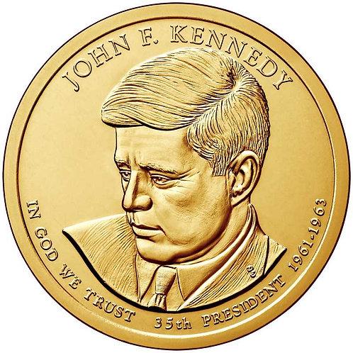 2015-P John F. Kennedy Presidential Dollar in BU