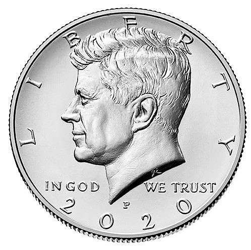 2020-P Kennedy Half Dollar in BU