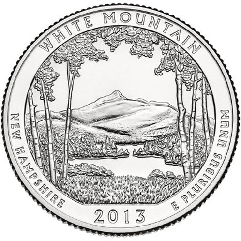 2013-S White Mountain National Park Quarter in BU