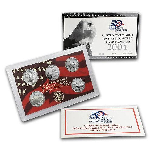 2004 Statehood Quarter Silver Proof Set