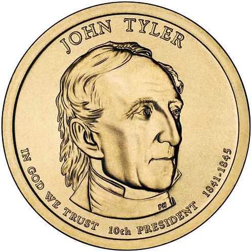 2009-D John Tyler Presidential Dollar in BU