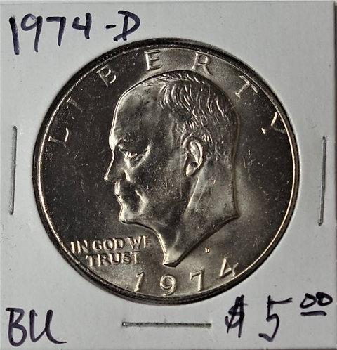 1974-D Eisenhower Dollar in BU