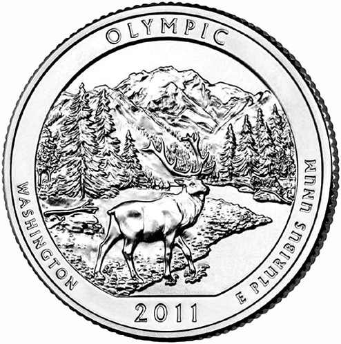 2011-D Olympic National Park Quarter in BU