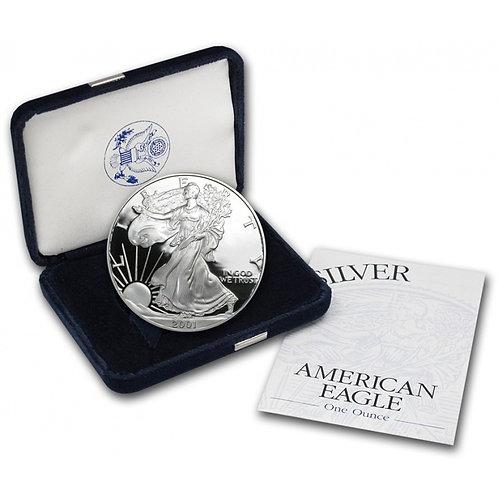2001-W Proof American Silver Eagle