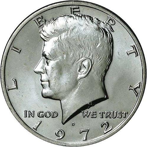 1972-D Kennedy Half Dollar in BU