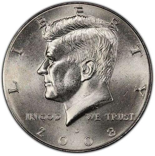 2008-D Kennedy Half Dollar in BU
