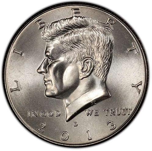 2013-D Kennedy Half Dollar in BU