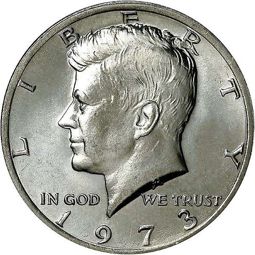 1973 Kennedy Half Dollar in BU