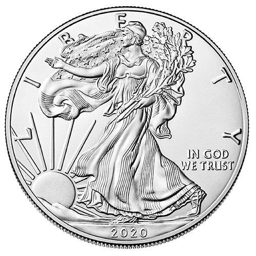 2020 1-oz American Silver Eagle in BU