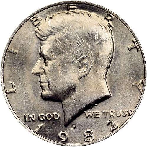 1982-P Kennedy Half Dollar in BU