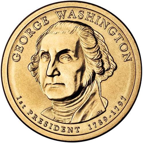 2007-D George Washington Presidential Dollar in BU