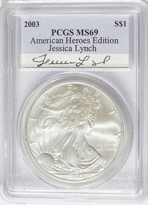 2003 1-oz American Silver Eagle PCGS MS69