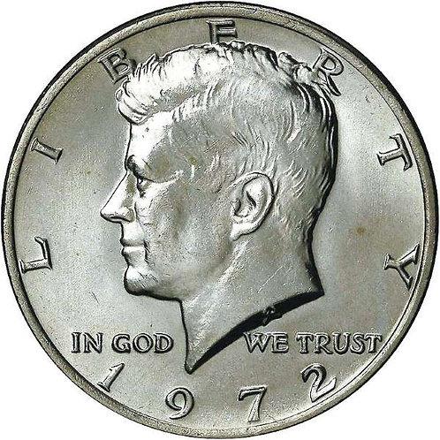 1972 Kennedy Half Dollar in BU