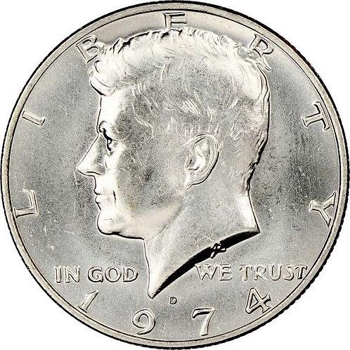 1974-D Kennedy Half Dollar in BU
