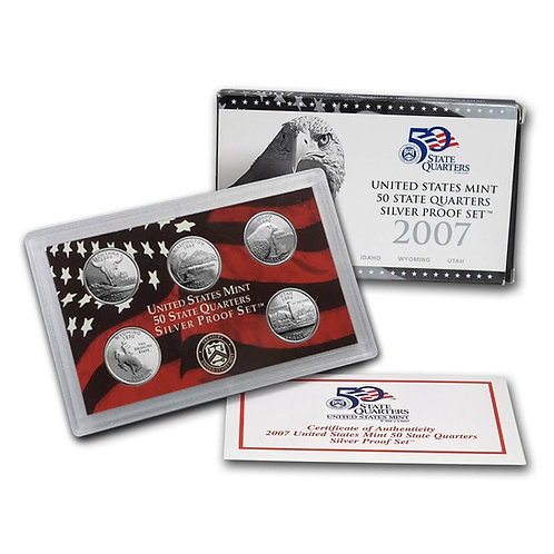 2007 Statehood Quarter Silver Proof Set