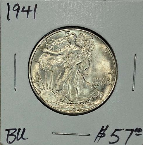 1941 Walking Liberty Half Dollar in BU