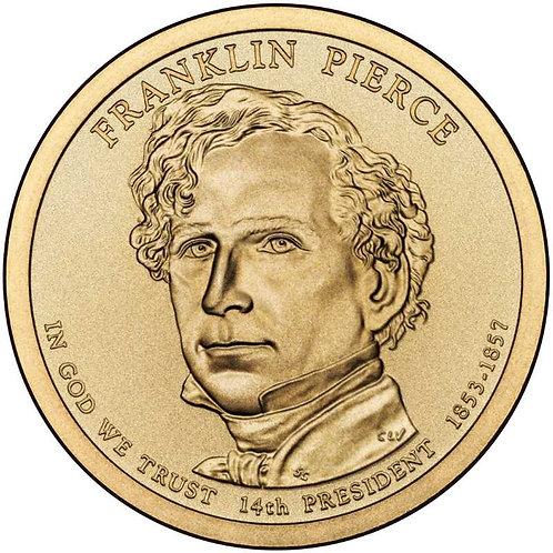 2010-D Franklin Pierce Presidential Dollar in BU