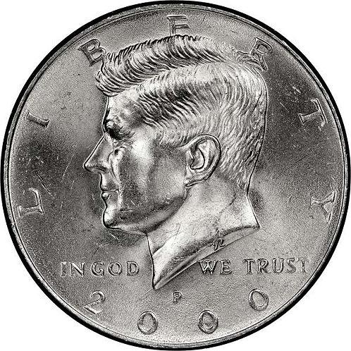 2000-P Kennedy Half Dollar in BU