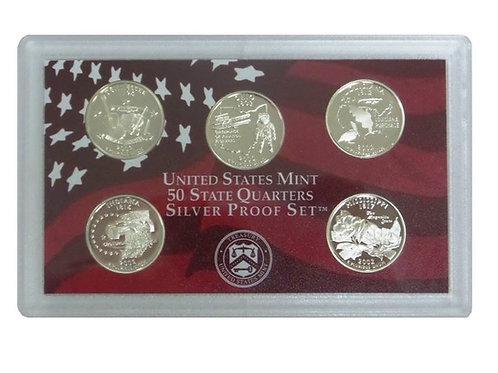 2002 Statehood Quarter Silver Proof Set
