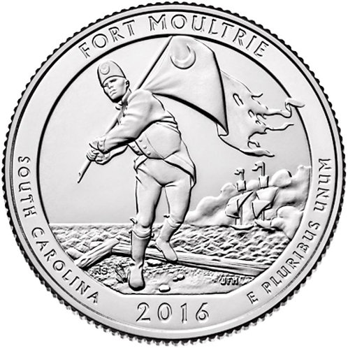2016-P Fort Moultrie National Park Quarter in BU