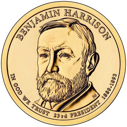 2012-D Benjamin Harrison Presidential Dollar in BU