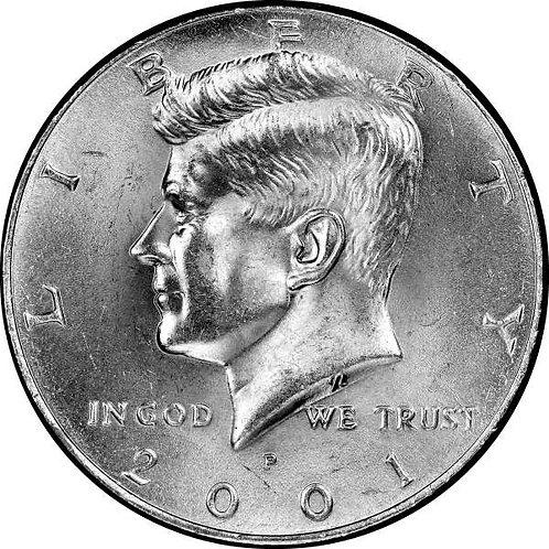 2001-P Kennedy Half Dollar in BU