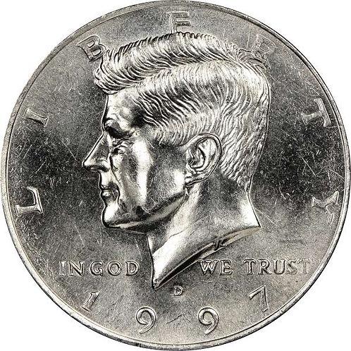1997-D Kennedy Half Dollar in BU