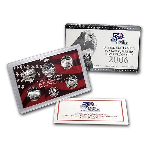 2006 Statehood Quarter Silver Proof Set