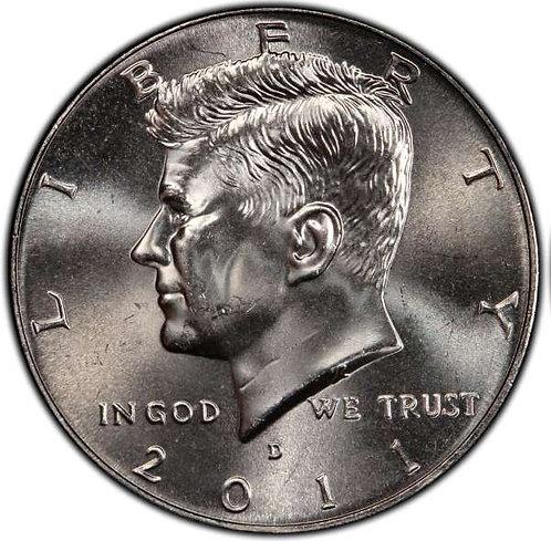 2011-D Kennedy Half Dollar in BU