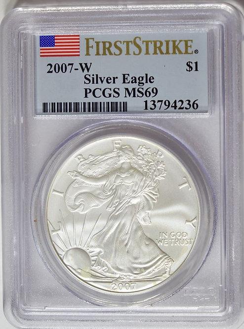 2007-W 1-oz American Silver Eagle PCGS MS69