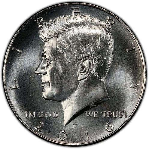 2016-P Kennedy Half Dollar in BU