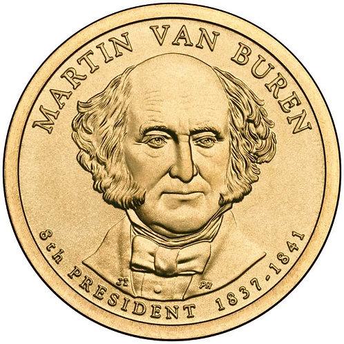 2008-P Martin Van Buren Presidential Dollar in BU