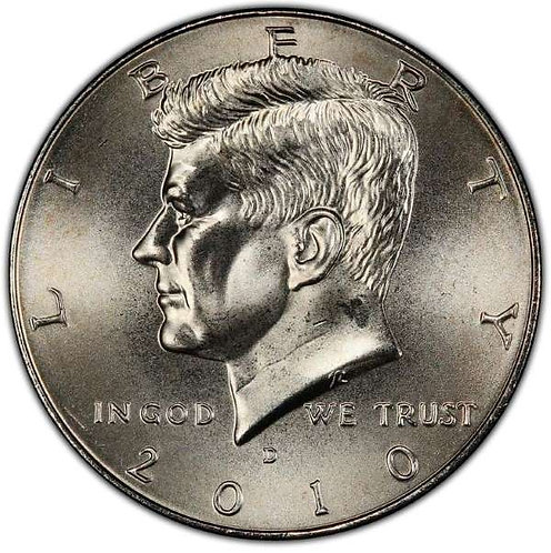 2010-D Kennedy Half Dollar in BU