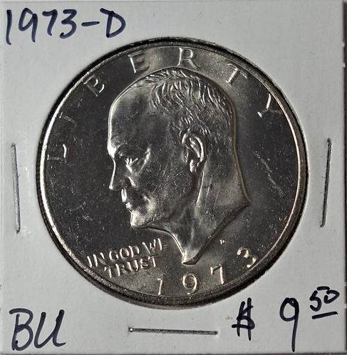 1973-D Eisenhower Dollar in BU