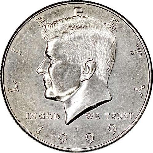 1999-D Kennedy Half Dollar in BU