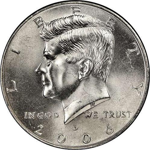 2006-D Kennedy Half Dollar in BU
