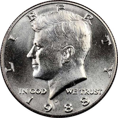 1988-D Kennedy Half Dollar in BU