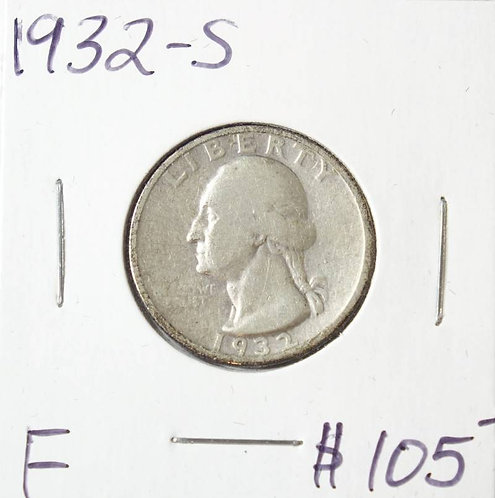 1932-S Washington Quarter in F
