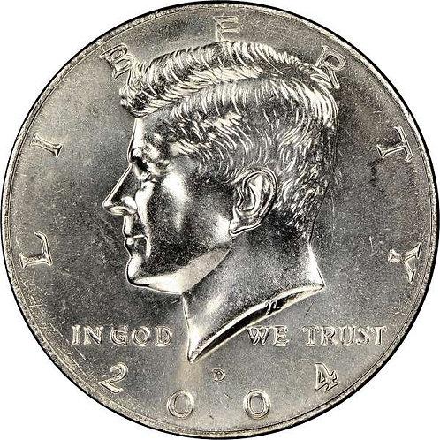 2004-D Kennedy Half Dollar in BU