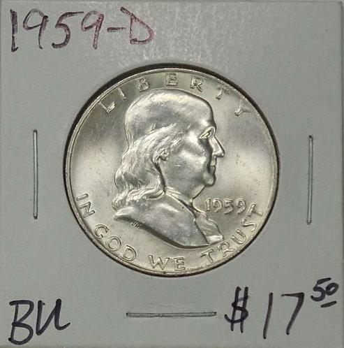 1959-D Franklin Half Dollar in BU
