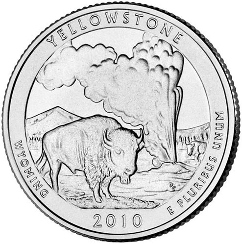 2010-D Yellowstone National Park Quarter in BU