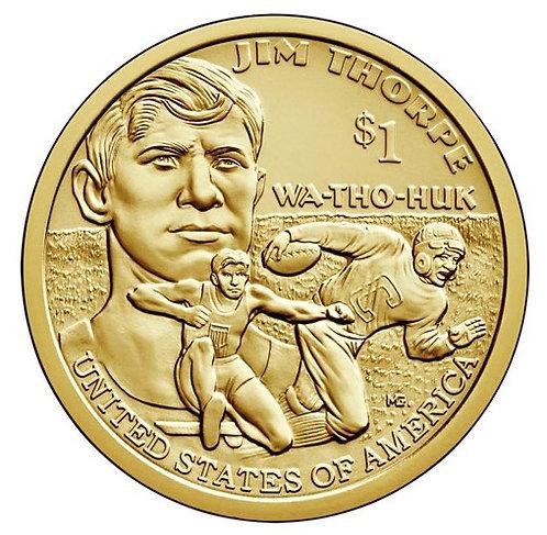 2018-D Native American Dollar in BU