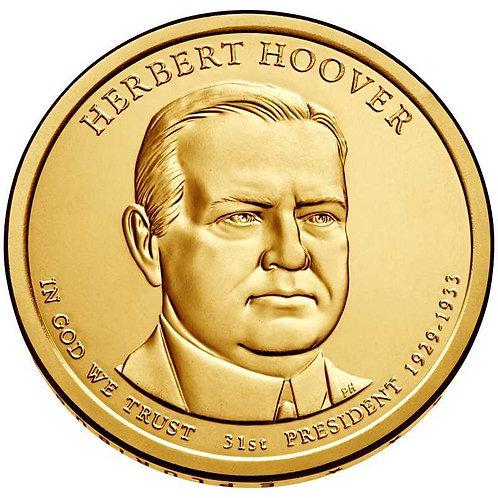 2014-P Herbert Hoover Presidential Dollar in BU
