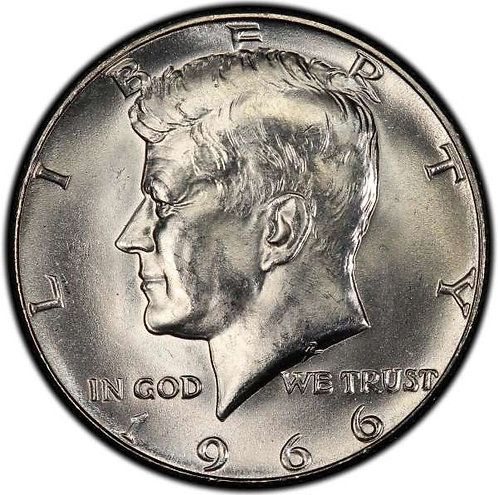 1966 Kennedy Half Dollar in BU