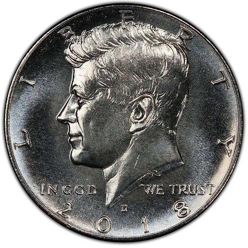 2018-D  Kennedy Half Dollar in BU